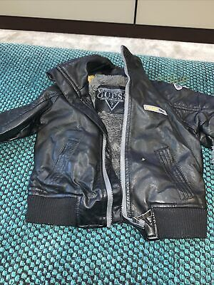 £20 • Buy Guess Leather Bomber Jacket 12 Months And Matching Hat