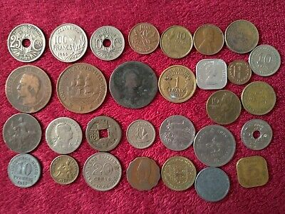 £1.20 • Buy Job Lot Of Old & Antique Foreign & British 30 X Coins, MIXED.