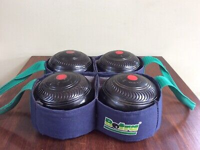 £20 • Buy Preowned - LAWN BOWLS SET OF 4 TYROLITE By TAYLOR-ROLFE SIZE 4 3/4 Bias 3