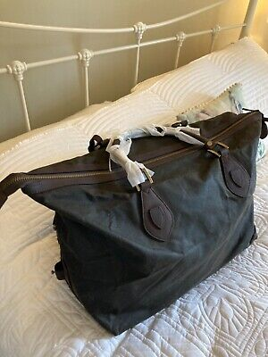 £180 • Buy BNWT Barbour  Olive Wax Cotton Weekend Bag. Travel Explorer. .Free Postage .