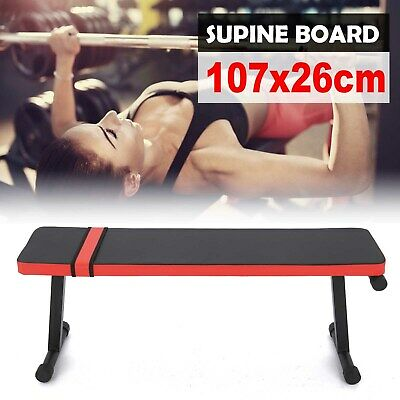 £31.99 • Buy Folding Flat Weight Lifting Bench Body Workout Exercise Home Gym Fitness Benches