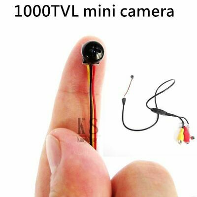 £23.74 • Buy 1000TVL HD Wired Camera Smallest Security Micro Black Screws Tiny Body Lens