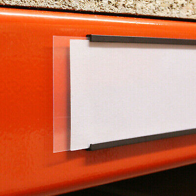 £34.95 • Buy Magnetic Label Holders For Warehouses, Schools 50mm X 80mm - Pack Of 100 - USED