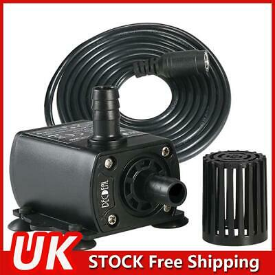 £9.87 • Buy DC 12V Pond Submersible Water Pump Fish Tank Aquarium Outdoor Feature Fountain