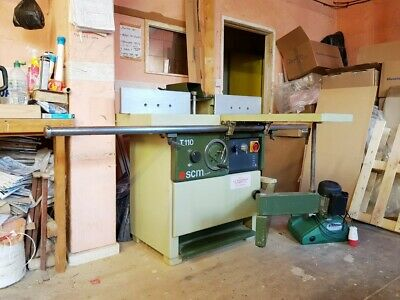 £3750 • Buy  SCM T110 SPINDLE MOULDER  With SLIDING TABLE And POWER FEED STAND A1 CONDITION