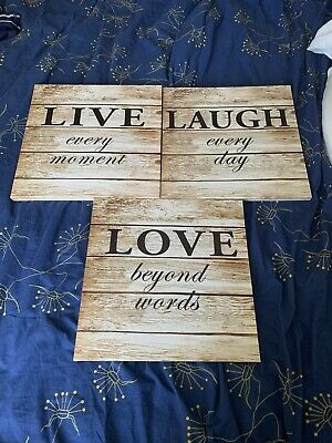£7.50 • Buy Live Laugh Love Wall Signs