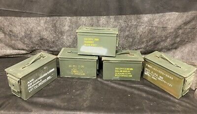 $89.95 • Buy 5 Pack USGI Five 50 Cal Grade 2 Ammo Cans M2A1 5.56 Empty Ammunition Cans