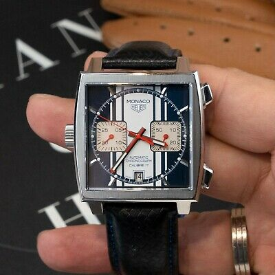 £4648.85 • Buy TAG Heuer Monaco Cal 11 Steve McQueen Limited Edition CAW211D.FC6300 Blue White