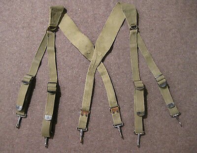 $45 • Buy US Army WW2 M1936 Combat Suspenders First Pattern OD 1941