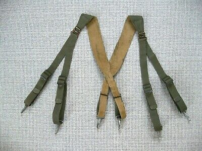 $65 • Buy US Army WW2 M1936 Combat Suspenders First Pattern OD/khaki Rare Variant