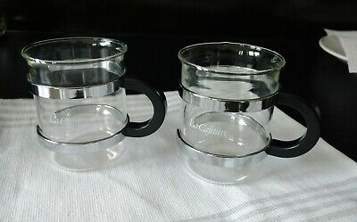 £10 • Buy  2 La Cafetiere Expresso Coffee Cups 80s Style. Glass/ Black . New  Condition.