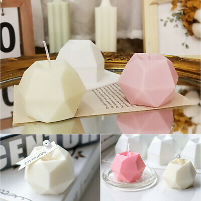 £3.03 • Buy DIY Eight-sided Diamond Candle Moulds Aromatherapy Soap Candle Mold 3D Craft Wax