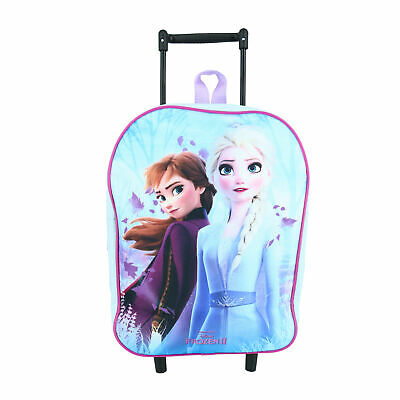 £28.79 • Buy New Textiel Trade Disney Girl's Frozen 2 Elsa And Anna Rolling Luggage