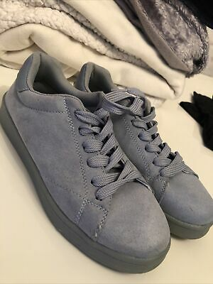 £3 • Buy Womens Pale Blue Suede Trainers UK 5