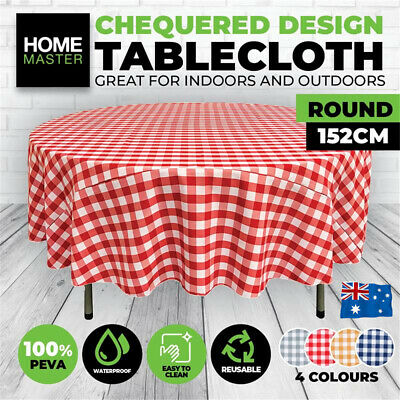 AU12.50 • Buy 60  Round PEVA Waterproof Table Cloth Garden Dining Party Tableware Desk Cover