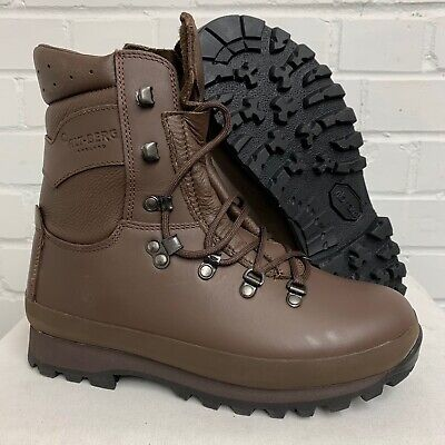 £95 • Buy ALTBERG BROWN LEATHER HIGH LIABILITY DEFENDER COMBAT BOOTS Size: 6 Wide British