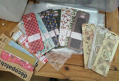 £18.50 • Buy Job Lot 16 Packs FIRST EDITION, DECOPATCH & SANTORO Decoupage Papers - Mixed