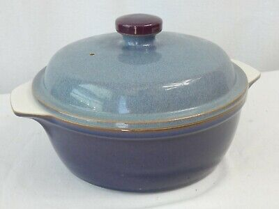 £8.99 • Buy Denby Storm Stoneware Pottery Blue Cooking Casserole Pot Dish With Lid