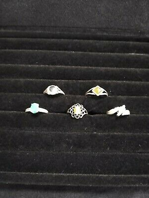 $ CDN7.93 • Buy Vintage Ring Lot With Stones (5) .925... Wearable...10.44 Grams