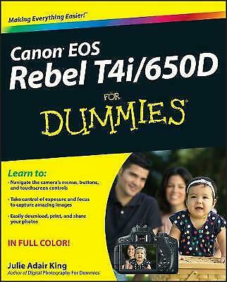£4.95 • Buy Canon EOS Rebel T4i/650D For Dummies By Julie Adair King (Paperback, 2012)