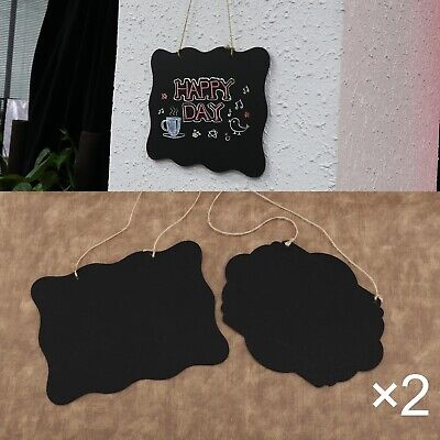 £11.13 • Buy 4pcs 2 Shapes Chalkboard Signs Double-sided Blackboard With Hanging String