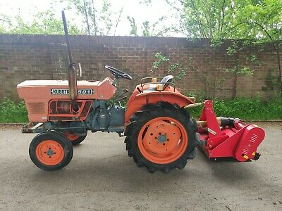 £4995 • Buy Kubota Compact Tractor With Brand New Tested Flail Mower