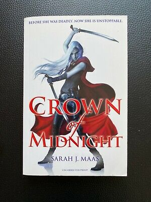 $950 • Buy Crown Of Midnight By Sarah J. Maas UK Uncorrected Proof/ARC