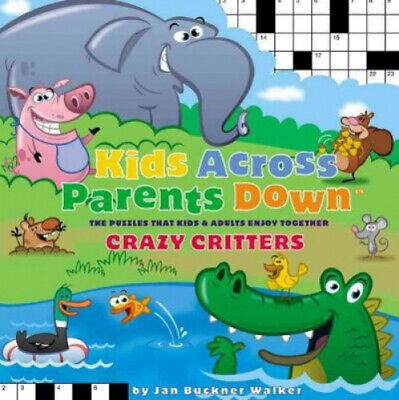£12.75 • Buy Kids Across, Parents Down: Crazy Critters - The Puzzles That Kids And Adults