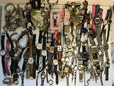 $ CDN75 • Buy Mixed Used Watch Lot, Timex, Fossil, Guess, Roots, Mickey Mouse, Caprice, Lorus