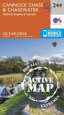 £12.64 • Buy Cannock Chase (OS Explorer Active Map) By Ordnance Survey