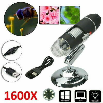 £10.79 • Buy 1600X Zoom 8 LED USB Microscope Digital Magnifier Endoscope Camera Video Stands