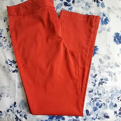 £3 • Buy M & S Red Straight Leg Slim Fit Trousers Size 14 Worn Once Stretch