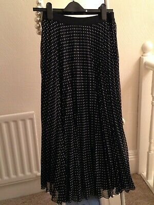 £2.99 • Buy All Around Pleated Polka Dot Skirt By F&F Size 8