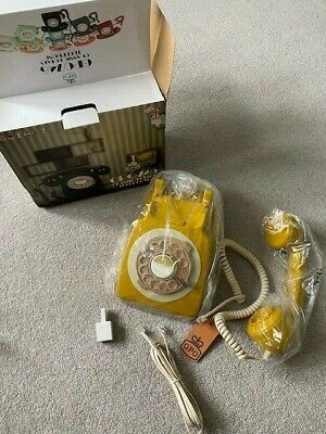 £29.99 • Buy GPO 746 Retro 1960s Style Rotary Dial Telephone In Mustard