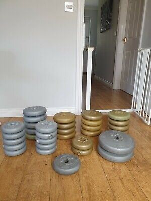 £65 • Buy Assorted Vinyl Gym Weights York And Dp In Various Weights.