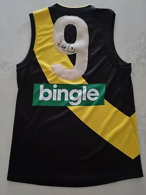 AU279 • Buy Trent Cotchin Signed Afl Size Med Football Guernsey Richmond Brownlow Premiers