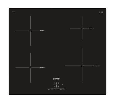 £329 • Buy Bosch 60cm Induction Hob   PUE611BF1B   4 Ring Zones With Touch Control - Black