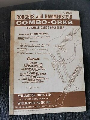 £2 • Buy Rodgers And Hammerstein Combo Orks For Small Dance Orchestra Vintage