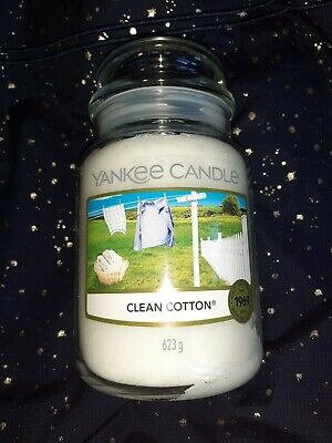 £8 • Buy New Yankee Candle Clean Cotton Large Jar - Lovely Gift