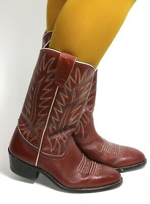 £31.67 • Buy Cowboy Boots Line Dance Catalan Style Western Boots Leather Texas Sancho 38