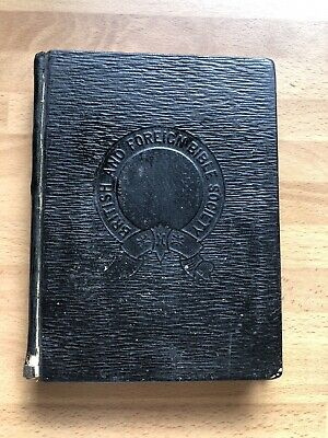 £39.99 • Buy Antique 1882 British & Foreign Bible Society Eyre & Spottiswoode Inscribed 1883