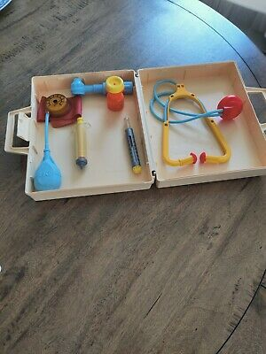 £8.99 • Buy Vintage Retro Fisher Price Doctor Medical Kit Complete 1977 Childs Role Play Toy