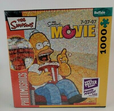 £21.24 • Buy Robert Silvers Photomosaics The Simpsons Movie 1000-Piece Puzzle NEW, Sealed