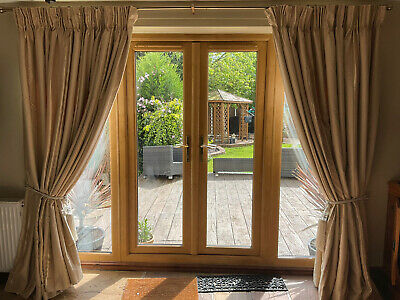 £99.99 • Buy M2m Montgomery Huge Pair Of Curtains Thermal Lined Pencil Pleat Gold 90 D 131  W