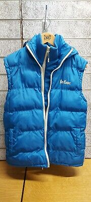 £20 • Buy Mens Lee Cooper Blue Quilted Hooded Gilet / Body Warmer - Size Small Double Zip