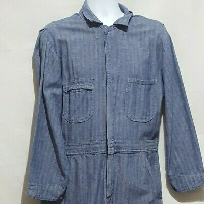 $26.99 • Buy Vintage Sears Mens Coveralls Made In USA Denim Size 42S Work Wear Unisex