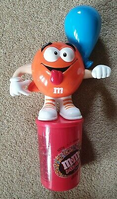 $23.64 • Buy M&M Sweet Dispenser - Orange M&M's With Blue Balloon - Collectable Rare - Candy