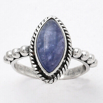 £9.44 • Buy Natural Tanzanite 925 Sterling Silver Ring S.6 Jewelry 6836