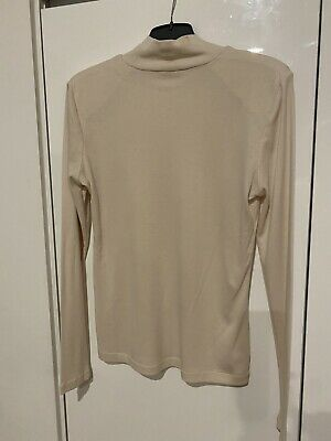 AU29 • Buy Witchery High Neck Long Sleeve Top (Putty) - Medium - BNWOT **Current Style**