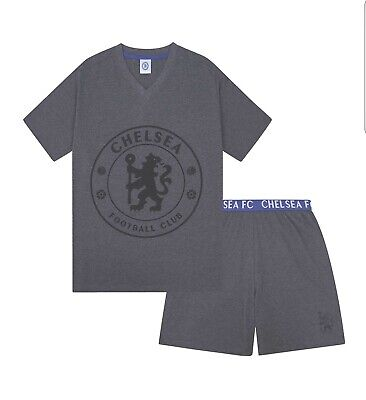 £10 • Buy Chelsea FC Official Football Gift Mens Short Pyjamas Loungewear Size Large ( New